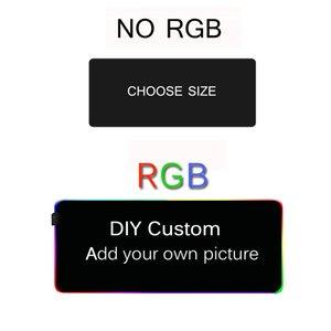 DIY Custom RGB Mouse Pad Computer Mausepad Xxl Backlight Pad Genshin Impact Gaming Accessories Gamer LED Carpet Gaming Mouse Mat Y0308