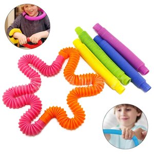 Funny Party favors Plastic Tube Coil Children'S Creative Magical Folding Circle Development Early