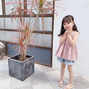 Vest Children's Clothing 2021 Summer Girls Korean Cotton Camisole Fashion Baby Clothes Tops