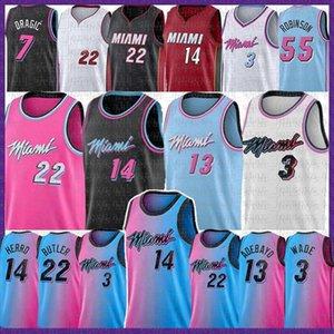 Двиайн 3 Уэйд Джимми 22 Батлер Тайлер 14 Herro # 25 Kendrick Баскетбол Джерси Nunn 23 8 майки 55 Duncan 55 Robinson 2021 New Mens