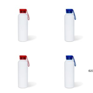 Sublimation Blank Tto Motion Kettle 750ML Boy Girls Colour Silicone Transparent Cover Aluminum Water Bottles DIY sea shipping EWD4976
