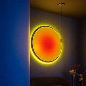 Projection atmosphere lamp clothing store rainbow floor lamp bedroom decorative table sunset vertical floor
