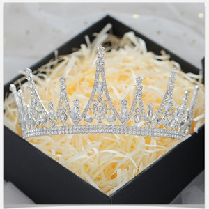 Gold Pearls Crystals Princess Headwear Chic Bridal Tiaras Accessories Stunning Crystals Pearls Wedding Tiaras And Crowns 1209