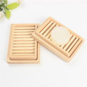 Оригинальность стойки мыла лоток для хранения ящик для хранения блюда двойной DIY два слоя палуба женщина мужчина мода поставки деревянный держатель ванна GGA4228