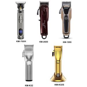 KEMEI Professional Electric Hair Trimmer Beard Shaver Rechargeable Hair Clipper Titanium Knife Hair Cutting Machine KM-2600 K32 K32 KM-700H