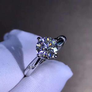 18 k White Gold Mossanite Classic Design 4 Talons Wedding Anniversary Engagement Ring Vs1 Moissanite Stone