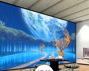 Papier peint 3D personnalisé Mural Moderne Minimaliste 3D Stereo Paysage Artistique Conception Mur de fond en marbre