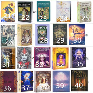 220 Styles Tarots Witch Rider Smith Waite Shadowscapes Wild Tarot Deck Board Game Cards with Colorful Box English Version Game