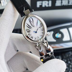 Best Version Chame of of-Of The Pearl Dial Reine de Неаполь 8918 Diamond 904L Стальной корпус 8918BR Леди Часы Cal.537 / 1mc Автоматический кожаный ремешок