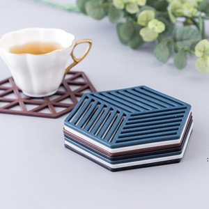 Splicing Hollow Solid Tea Cup Mat Nordic Style Household Goods High Temperature Heat Insulation Pad Non-slip Anti-scald Bowl Mats FWD4905