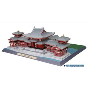 Japan Equality Academy Phoenix Hall 3D Paper Model World Famous Architectural Model Handmade DIY Educational Toys Collection L0311