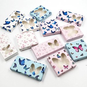 Schmetterling Falsche Wimpern-Verpackungsbox 3D Mink-Wimpern-Kästen leerer Fall Papier Lima-Boxen Verpackung 11 Arten AHF5287
