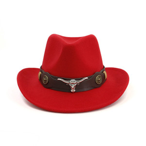 Men Women Cowboy Hat Felt Fedora Hat outdoor Travel wide brim hats Man Woman Western Knight Cap Couple Top caps Fashion Accessories NEW