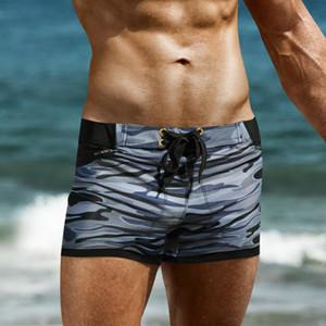Swimsuit Swimwear Men maillot de bain Mens Swim Briefs Beach Shorts Swimming Trunks Zwembroek Heren Camouflage men