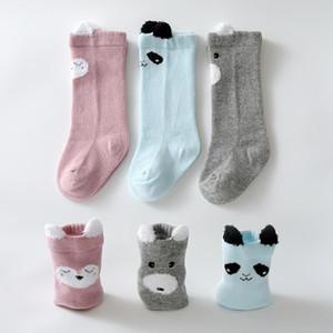 DHL 3 Pairs set Unisex Baby Socks For Toddler Newborn Kids Infants Winter Long Leg Warmers Cartoon Animal Pattern Boy Girl Socks