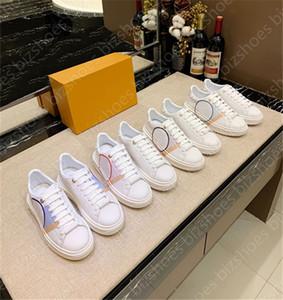 Time Out Cuero Mujer Sneaker Blanco Zapatos Casuales Ace Runner Vintage Entrenador Elevar Rubber Sole Plataforma Zapato Mujer Lujos Diseñadores Zapato