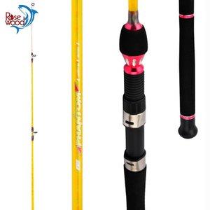 Canne da pesca in barca Punta solido Super Power Power Asta Trolling Sea Offshore Pishing Pining 1.3m / 1.6 / 1.8m / 2.1m Surf Casting Pole