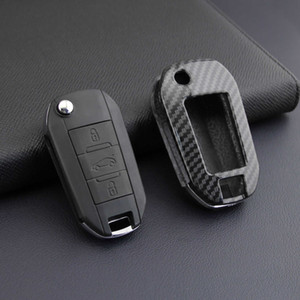 Suitable for Citroen C3airs Elysee Key 301 Peugeot 208 Remote Control Bag Protective Case Carbon Fiber