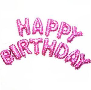 Helium Balloon Happy Birthday Alphabet Balloons Set Baby Birthday Party Decorative Balloon Birthday Wedding Decorations Supplies SEA DHC6007