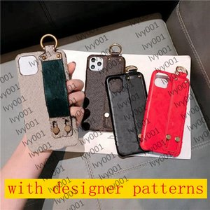 Wrist strap phone cases for iPhone 13 pro max 12 Pro max mini 11 11Pro X XS XR XSMAX shell PU leather designer 11promax 12promax cover i001