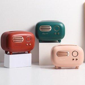 Tissue Boxes & Napkins Box Retro Radio Model Desktop Paper Holder Vintage Dispenser Storage Creative Napkin Case Organizer Ornament Craft