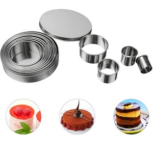Round Cookie Biscuit Cutter Set 12 Graduated Circle Pastry Cutters for Donut Scone Stainless Steel Metal Ring Baking Molds JK2007KD