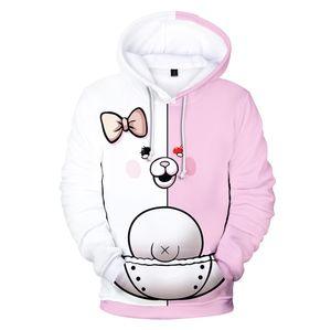 Anime Danganronpa Monokuma Monomi 3D Print Men Hoodies Sweatshirts Black White Bear Pullover Hooded Jacket Cosplay Costume