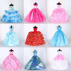 New Brand 25 Kinds Fashion Clothes Wedding Princess or Party Dress for 29CM Barbie Dol Best Gift for Girl L0308