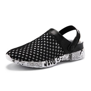 Sandals men women Shoes Summer Cave ShoesSlipper High Quality Breathable Soft Waterproof Outdoor Lazy Beach Hollow#1911