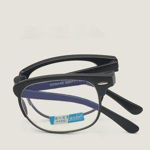 أزياء مصغرة نظارات القراءة طوي الرجال المحمولة النساء نظارات مضادة للزرقاء فائقة ضوء القراءة السوداء مع القضية