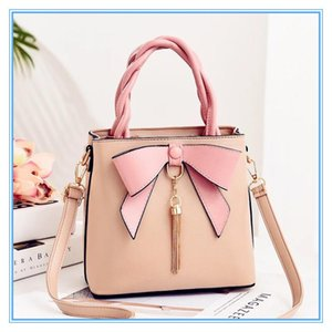 2021 design sweet style totes for lady Girls Bowknot handbags Womans shopping tassel leather shoulder bags Diagonal BagSMT204