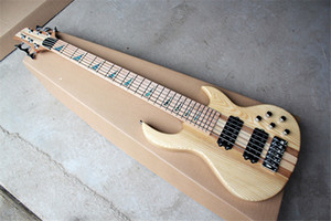 Maple Fingerboard 6 Strings Neck-thru-body Electric Bass Guitar with Chrome Hardware,Active Circuit,Can be customized