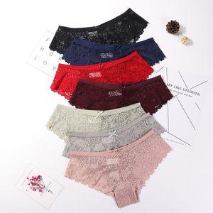 3 Pcs Panties for Woman Underwear Sexy Lace Breathable Soft Lingerie Female Briefs Panty Sexy Transparent Women's Underpants