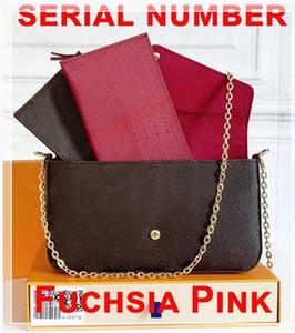 M61276 Hohe Qualität Frau Luxurys Designer Mode Crossbody Taschen Brieftasche Rucksack Handtaschen Geldbörsen Kartenhalter Taschen Schultertasche 3 Teile Box