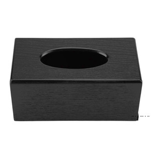 Hot XD-Tissue Box Wood Rectangular Tissue Box Natural Elegance Wood Tissue for Living Room Bedroom Kitchen FWD5133