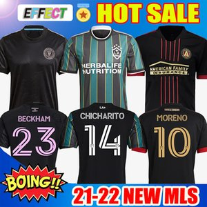 MLS جديد 21 22 La Galaxy Soccer Jersey Atlanta United FC Football Shirts 2021 2022 Inter Miami CF Chicharito Lafc Vela Jerseys Higuain