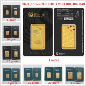 The Perth Mint Apmex Argor RCM-Bullion Bar Australien Bars Grün Schwarz Black Geschenk Home Decorations Metallhandwerk 2,5g 5g 10g 20g 31Gramm Mix 10 stücke