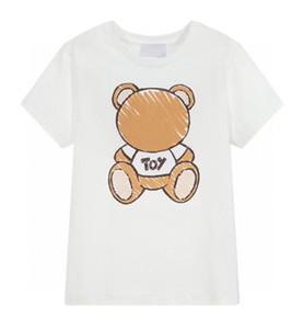 Kinder Tshirts Jungen Top Mädchen Tees 2021 Heißer Verkauf Kurzarm Tees Kinder Atmungsaktiver Brief Gedruckt mit Bär Muster T-Shirts Pullover