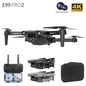 NEW E99 Pro2 Drone 4K HD FPV Wide Angle Profession Dual Camera Hight Hold Optical Flow Foldable RC Quadcopter Dron Toys 10X DHL