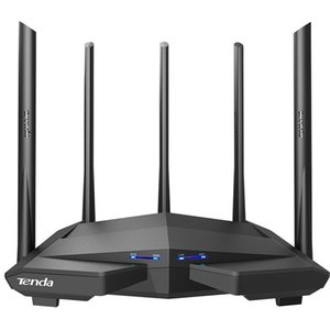 Tenda AC11 Gigabit Dual-Band AC1200 Wireless Router Wifi Repeater with 5*6dBi High Gain Antennas Wider Coverage, Easy setup 210607