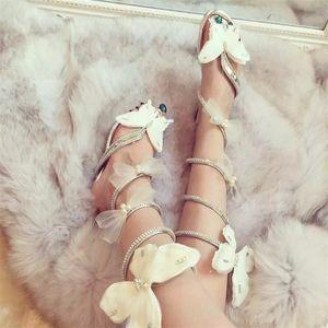 Sandali del serpente Sandali Donne Scarpe da donna Piatta con tacco alto Tacchi alti Crystal Donne Gladiatore Farfalla Sandali Aprire Clip Tate Shoes Shoe 210306
