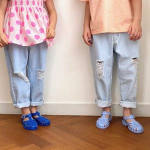 JK Korean Quality Kids Boys Girls Fashion Jeans Trousers Pants Hole Design Unisex Children Clothings