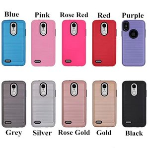 Para iphone xi xir xi max 6 7 8 mais x xs max xr 5g 5se escovado metal design textured Durable híbrido capa absorvente capa absorvente
