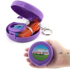 المحمولة جيب للطي تحلق طائرة ورقية كايت طفل لعبة تخزين حالة الرياضة في الهواء الطلق الأطفال هدية متعدد الألوان واحدة الطائرات الورقية الصغيرة EWF5528