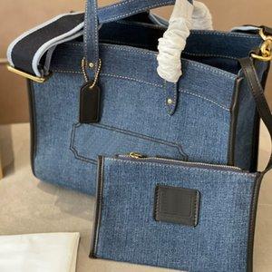 Bolsa de asas de moda Bolso de las mujeres Bolsos de compras de gran capacidad Lienzo Classic Letra Totes Totes Bolsos Detectable Strap Strap con bolso pequeño