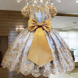 Baby Girls robe pour enfants 1 2 ans d'anniversaire robe d'arc en dentelle brochey tutu vestidos mariage robe de bretelle robe filles 210317