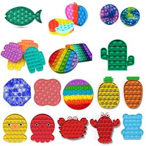 2021 Nueva llegada Push Bubble Bubble Fidget Toys Pop IT Autism Especial Necesidades Estrés Ayuda Ayuda a aliviar el aumento de estrés Enfoque Focus Squest Squeeze Toy