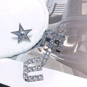 Yang Chaoyue's same Miu letter earrings and Earrings