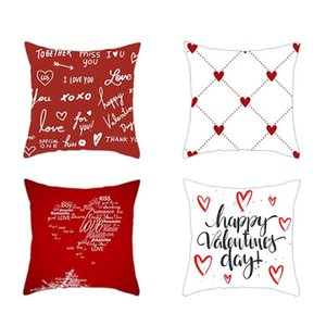 Pillow Case 4PC Simple Valentine's Day Cushion Cover Throw Sofa Car Home Decor 45X45cm