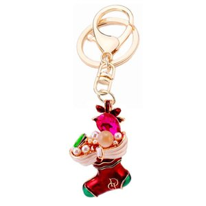 Porte-clés haute qualité charme cristal bottes de neige pendentif keychain chaussure porte-clés femme sac keyfobs clé chercheur créatif bijoux cadeau r093